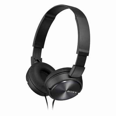 Sony MDR-ZX310 On-Ear Stereo Headphones - Foldable - Metallic Black