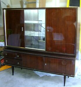 Vtg-Mid-Century-Modern-Munker-Modell-Lacquered-Liquor-China-Cabinet-Credenza