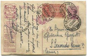 Cartolina-Postale-c25-c50-Expr-Pubblicitaria-Banca-Italiana-di-Sconto-1921
