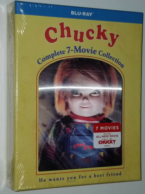 Chucky Complete Collection (1,2,3,4,5,6,7) Kinderspiel-Blu-ray Box Set SEALED