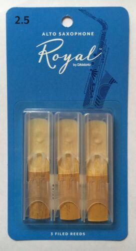 3-Pack NEW rjb0325 Royal by D/'Addario Rico Alto Saxophone Reeds #2.5