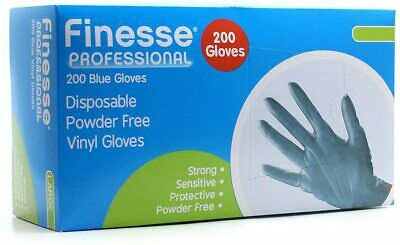 5 Boxes of 200 1000 Unigloves Blue Nitrile Powder Free Disposable Gloves