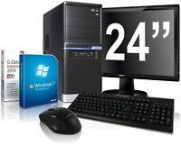 Quad Set PC+TFT Computer AMD Quad A10 6790K 16GB 4GB-Radeon8570 2TB Win7 Prof