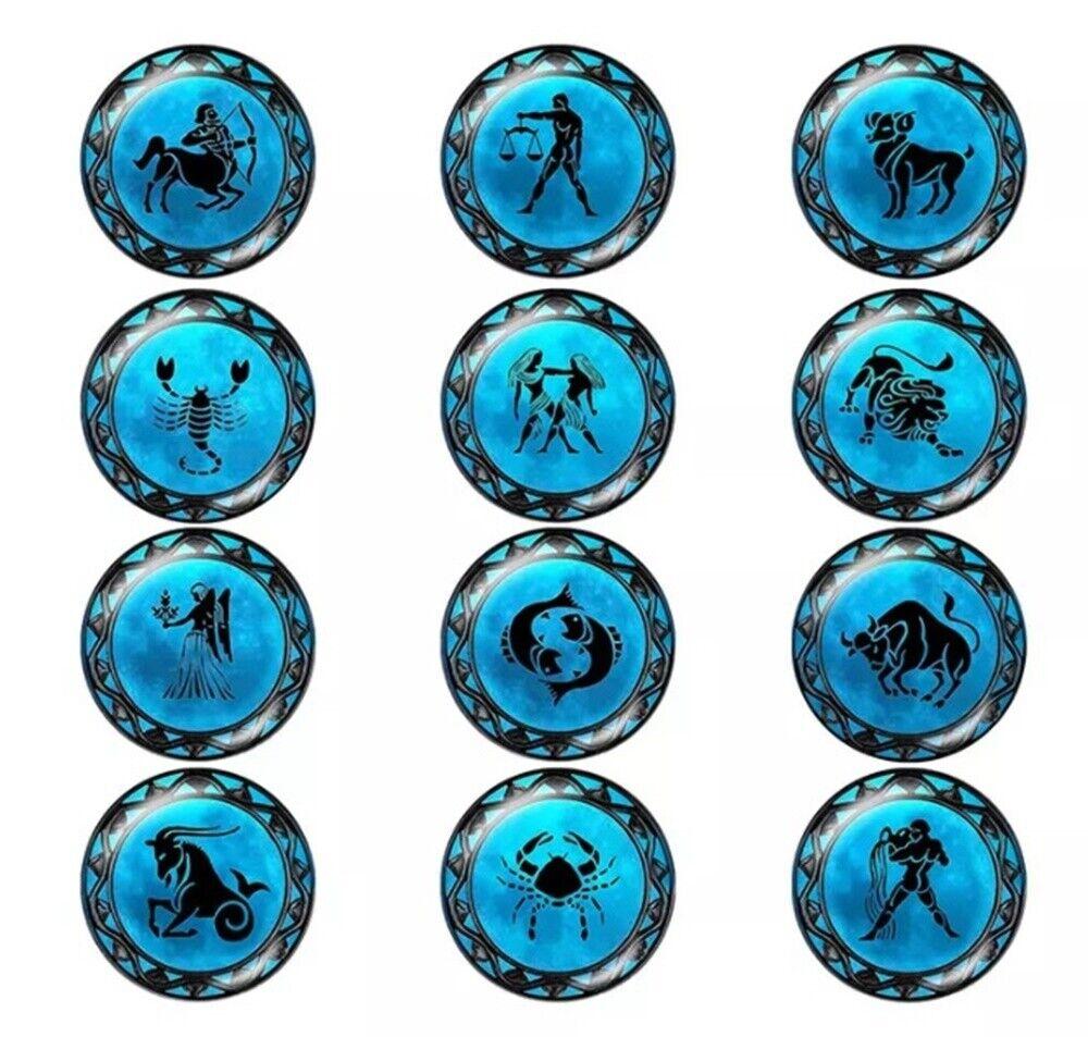 Klick Button Sternzeichen 18mm Acrylglas - kompatibel Chunk-Systemen