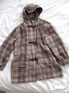 matelassé en laine et Manteau carreaux Gap carreaux à Vguc Brun à w6qPCWSPE