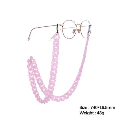Acrylic Eyewear Chain Holder Reading Glasses Hanging Sunglass Retainer Anti-slip