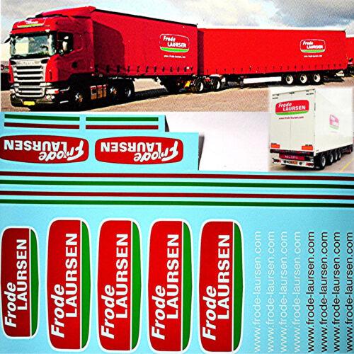 Frode Lauersen Denmark HZ Scania 1:24 Truck Decal LKW Abziehbilder