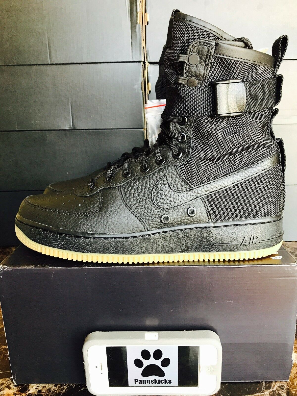 nike air force 1 sf domaine 7.5-11.5 af1 taille 7.5-11.5 domaine 864024-001 chewing - gum noir 8ae59c