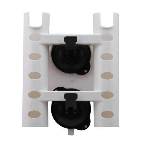 Details about  /Double Suction Cup Fishing Rod Holder Fishing Box Mount Bracket Connect Tool SG