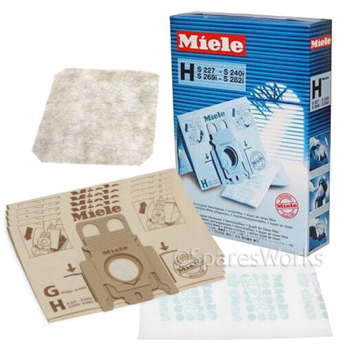 5 x Genuine Miele Type H HyClean Vacuum Bags S274I S275I S276I Hoover Bag
