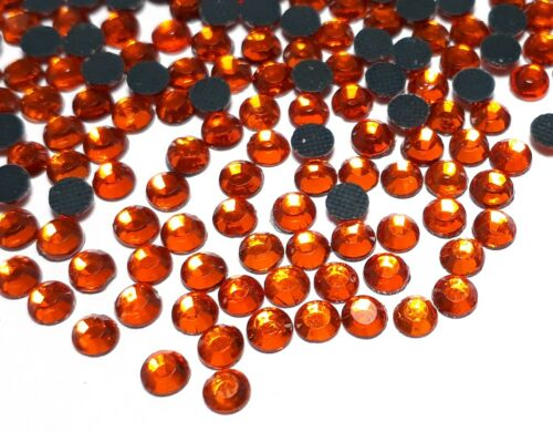 185 Hotfix Strasssteine 5mm SS20 Fire Opal Orange Glas Strass Bügelsteine 79