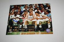 "BOSTON CELTICS ROBERT PARISH SIGNED 8X10 PHOTO "" CHIEF"" W/LARRY BIRD AND MCHALE"