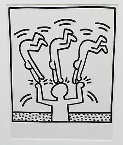 Keith-Haring-Untitled-Lithograph-from-Lucio-Amelio-suite-1983-original-great-inv