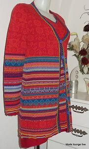 ivko-Giacca-di-maglia-lana-agnello-rosso-disegno-geometrico-Red-54505
