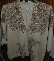 Large Coldwater Creek Placed Paisley Cardigan