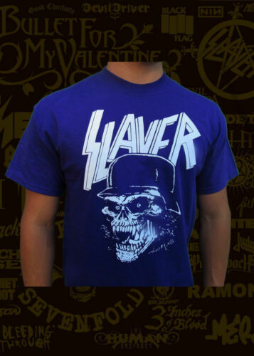 SLAYER SKULL METAL ROCK BAND PURPLE MEN/'s T SHIRT SIZES