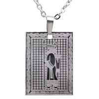 Silver Pt Engraved Iranian Persian Soldier Necklace Chain Iran Persia Farvahar