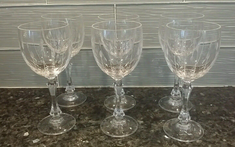 6 Vintage Towle cristal chopes verres à vin-Austria - 8 oz (environ 226.79 g) - Spear