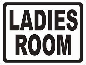 image is loading ladies room bathroom sign size options womens restroom - Womens Bathroom Sign
