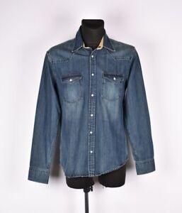 Jack-amp-jones-Travailleur-Jeans-Homme-Chemise-Taille-L