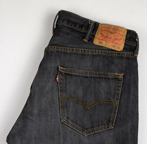 Levi-039-s-Strauss-amp-Co-Hommes-501-Jeans-Jambe-Droite-Taille-W38-L32-AKZ723
