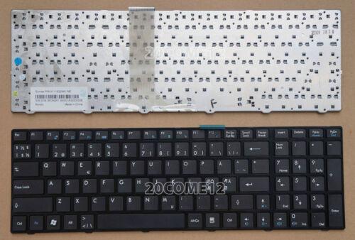for MSI FR600 FR620 FR700 FR720 FX600 FX600MX FX603 keyboard Nordic Scandinavian