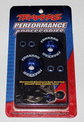 Traxxas Wheelie Bar Wheels Aluminum Blue for Stampede VXL TRA5186A