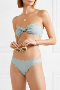 NWT-Marysia-Swim-Antibes-Scalloped-Bikini-Size-Medium-In-Pool