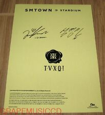 TVXQ! SMTOWN STARDIUM SM OFFICIAL GOODS AUTOGRAPH SIGNATURE STICKER NEW