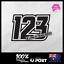 3x-Custom-MX-Racing-Number-Plate-Car-Dirt-Bike-Motorcycle-Decal-Sticker-TYPE-19 thumbnail 1