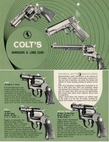 Green Colt/'s 1969 Handguns and Long Guns Catalog