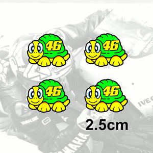 4 x Valentino Rossi Adesivo Tartaruga Decalcomania In Vinile 2012 2.5cm (ITA)