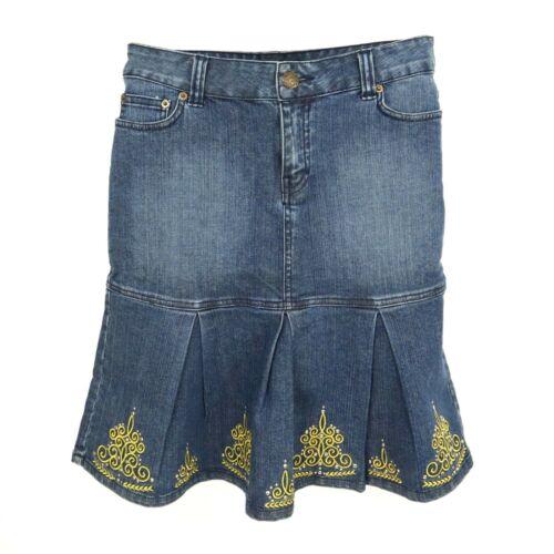 On N'est Pas Des Anges! Jean Skirt Womens Sz 8 Blu