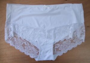 Ladies//Girls Size 16 Chainstore Knickers Panties Briefs Stretchy Cotton Cream