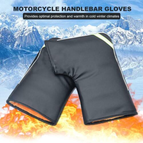 Waterproof Thermal Motorcycle Bike Handlebar Grip Muffs Gloves Mitts Hand Warmer