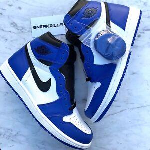 Nike-Air-Jordan-Retro-I-1-High-OG-GAME-ROYAL-White-Blue-555088-403-Sz-12-13