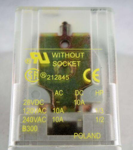 New 8501KPD12V51 Square D General Purpose Relay 12VDC DPDT