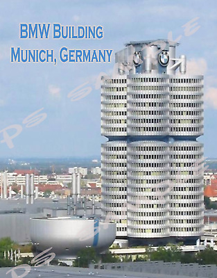 MUNICH Travel Souvenir Flexible Fridge Magnet BMW BLDG GERMANY