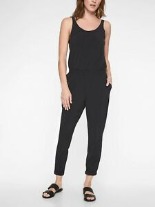 b524eb1e509 Image is loading NWOT-Athleta-Roaming-Romper-Black-SIZE-12-596303-