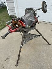 Ridgid 300 Pipe Threader With Full Carriage Of Attachments Amp 1206 Folding Tristand