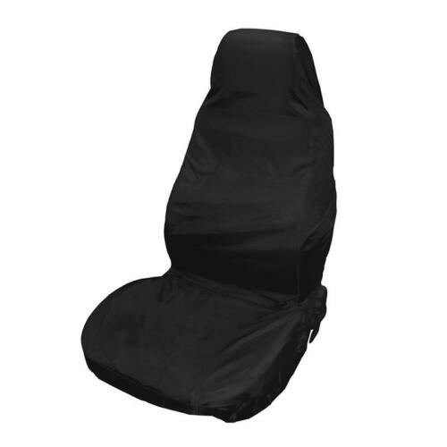 Pair Front Seat Covers Universal Car Van Black Waterproof Protector Heavy Duty
