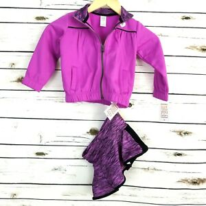 Carters-2T-Jacket-Skort-Outfit-Skirt-Purple-Black-Toddler-Girls