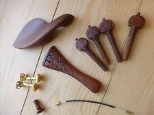 Accessori per violino, lussuosamente intagliato, Pioli, Cordiera, Chin riposo, fine PIN!!!