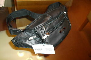 Mens  Real Leather Cowhide  Fawn Waist//Bum Bag From  Lorenz New And Tagged