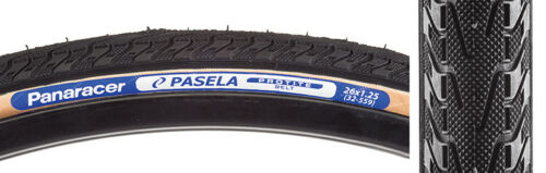 Panaracer Pasela Protite Tire 26x1.25 Black Gumwall Wire Clincher 559 ISO