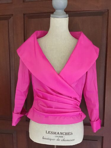 Tadashi blouse Size 12 Hot pink color
