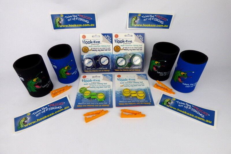 Gancho Eze Ultimate Mates Arrecife de 2 + 2 paquetes paquetes paquetes de doble de río 4 Gancho Roscadoras 4 Coolers 044506