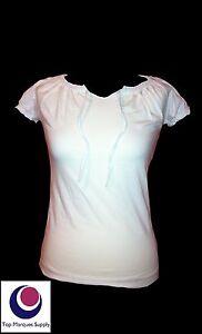 BNWOT-034-Esprit-034-8-10-12-14-16-18-Designer-White-Short-Sleeve-T-shirt-Casual-Top
