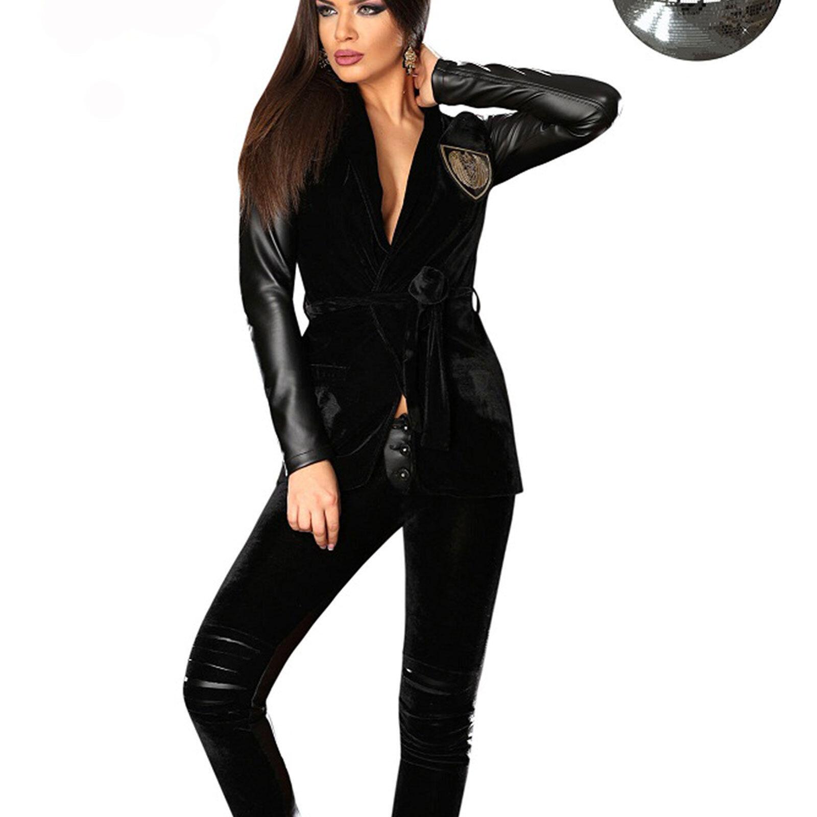 Lana Rossa Varsity Letterman College Giacca blakish M grigio scuro vera pelle braccia ~ M blakish b7f3c4
