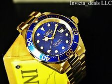 Invicta Men's 40mm Pro Diver Swiss Movement Admiral Blue Dial 18K GP SS Watch